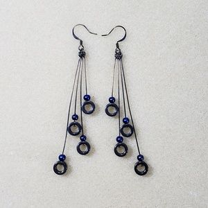 Hand made fashion earrings blue